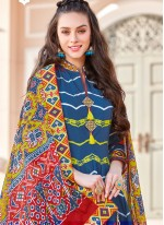 Multi Colour Ceremonial Readymade Gown