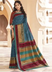 Multi Colour Ceremonial Traditional Designer Saree
