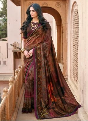 Multi Colour Chanderi Contemporary Saree
