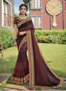 Multi Colour Chanderi Traditional Saree