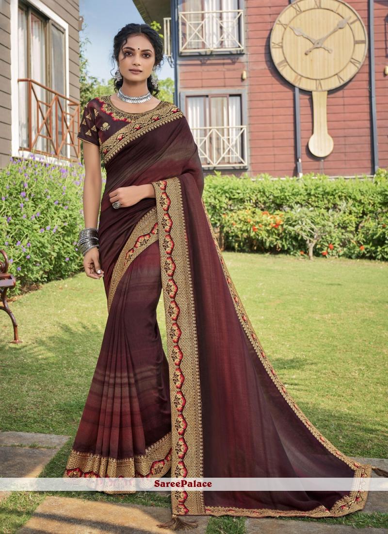 Multi Colour Chanderi Traditional Saree