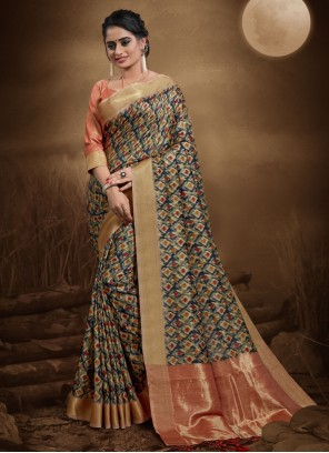 Multi Colour Classic Saree