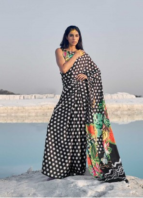Multi Colour Abstract Printed Casual Saree