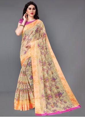 Multi Color Classic Saree