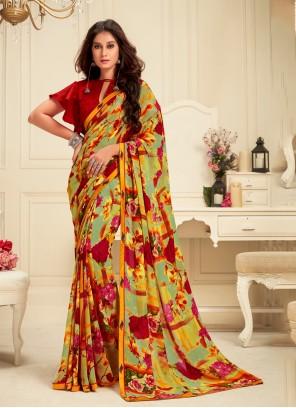 Multi Colour Color Classic Saree