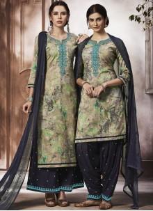 Multi Colour Cotton Designer Salwar Kameez