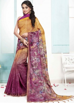 Multi Colour Cotton Designer Traditional Saree