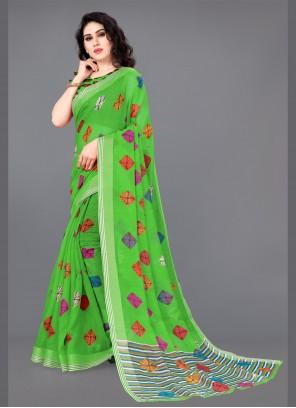 Multi Colour Cotton Festival Classic Saree