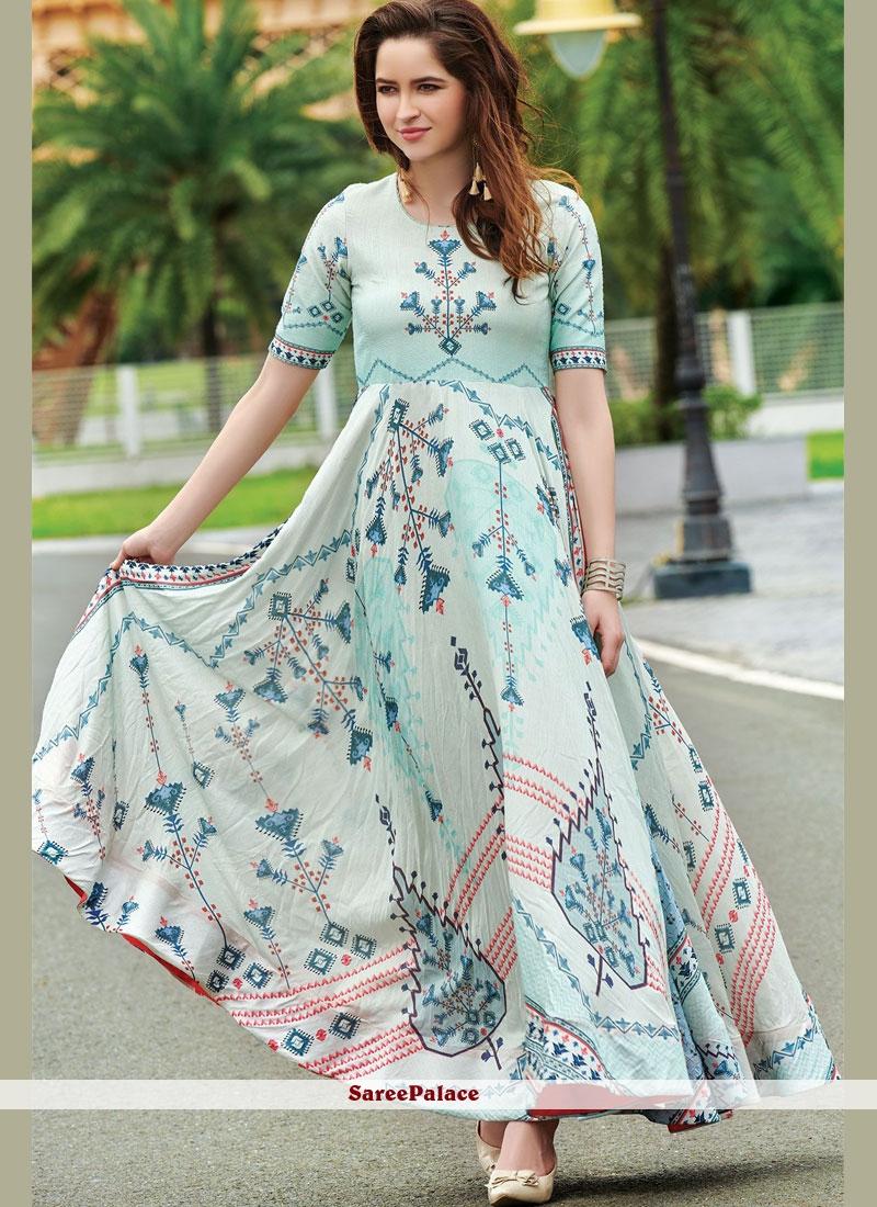 f04483fb868057 Buy Multi Colour Cotton Festival Readymade Designer Gown Online