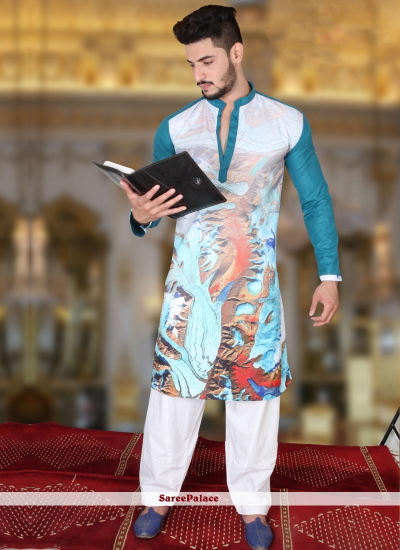 Multi Colour Cotton   Kurta Pyjama