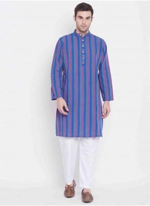 Multi Colour Cotton Printed Kurta Pyjama