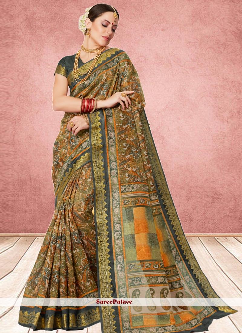 Multi Colour Cotton Silk Casual Saree