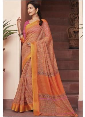 Multi Colour Cotton Silk Engagement Saree