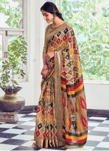 Multi Colour Cotton Traditional Saree