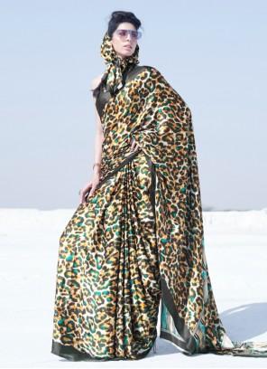 Multi Colour Crepe Silk Festival Casual Saree