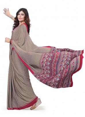 Multi Colour Crepe Silk Trendy Saree
