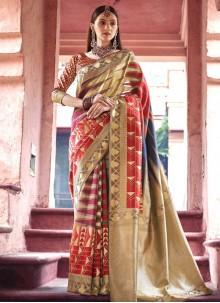 Multi Colour Designer Traditional Saree