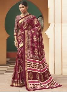 Multi Colour Engagement Designer Traditional Saree