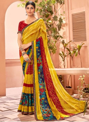 Multi Colour Fancy Fabric Casual Saree