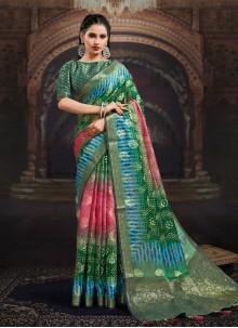 Multi Colour Fancy Fabric Designer Saree