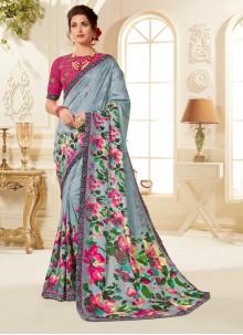 Multi Colour Fancy Fabric Festival Printed Saree