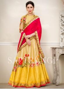 Multi Colour Fancy Fabric Lehenga Choli