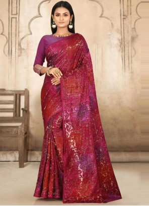 Multi Colour Fancy Fabric Weaving Designer Traditional Saree