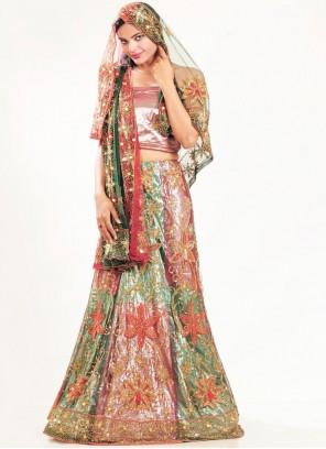Multi Colour Fancy Wedding Lehenga Choli