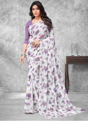 Multi Colour Faux Chiffon Casual Traditional Saree