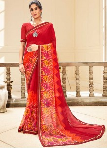 Multi Colour Faux Georgette Casual Traditional Saree