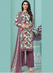 Multi Colour Faux Georgette Pakistani Salwar Suit
