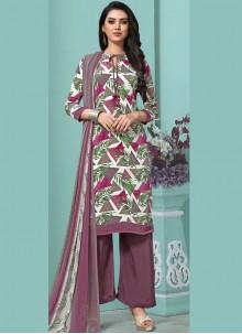 Multi Colour Faux Georgette Pakistani Salwar Suit