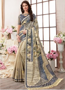 Multi Colour Festival Art Silk Printed Saree