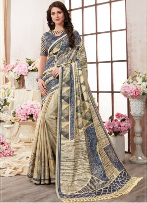 Multi Colour Festival Art Silk Printed Saree