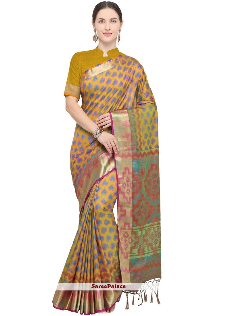 Multi Colour Festival Art Silk Traditional Designer Saree