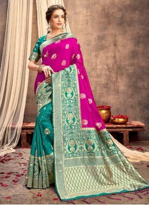 Multi Colour Festival Bollywood Saree