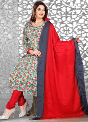 Multi Colour Festival Churidar Designer Suit