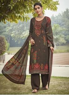 Multi Colour Festival Designer Palazzo Salwar Suit
