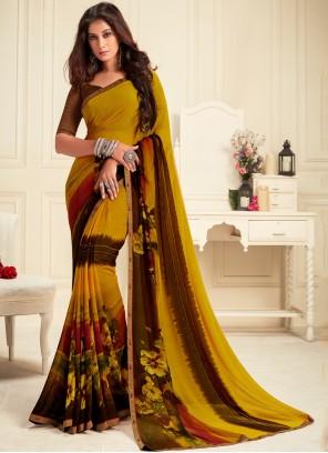 Multi Colour Festival Georgette Trendy Saree