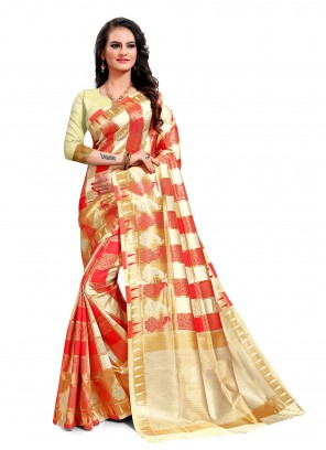 Multi Colour Festival Jacquard Silk Classic Saree