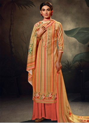 Multi Colour Festival Palazzo Suit