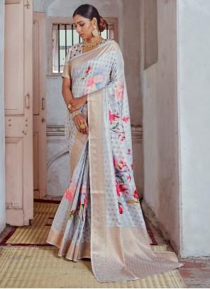 Multi Colour Festival Silk Classic Designer Saree