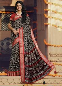 Multi Colour Festival Silk Classic Saree