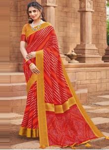 Multi Colour Festival Silk Traditional Saree