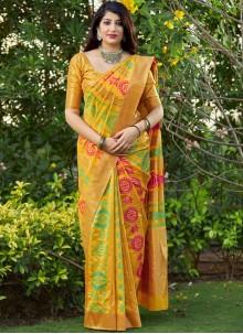 Multi Colour Festival Traditional Designer Saree