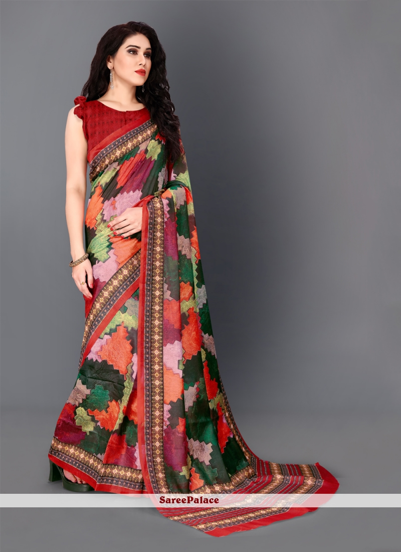 Multi Colour Festival Trendy Saree