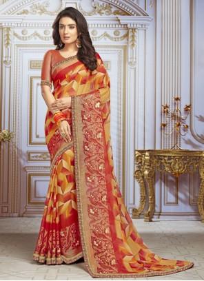Multi Colour Georgette Bollywood Saree