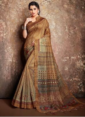 Multi Colour Handloom silk Classic Designer Saree