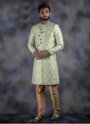 Multi Colour Jacquard Indo Western