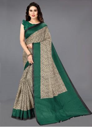 Multi Colour Khadi Silk Bollywood Saree